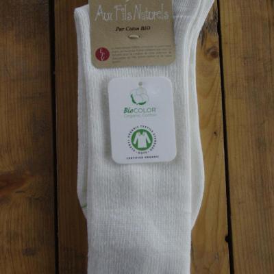 Chaussettes 100% coton bio écru