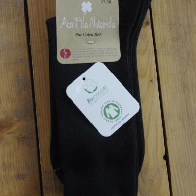 Chaussettes 100% coton bio noir